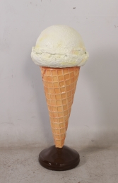 Standing Ice Cream Small - Vanilla 3ft (JR 130017v)