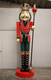 Nutcracker 12ft with Sceptre - Left Hand (JR 130090RG)