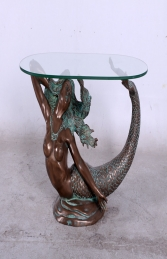 MERMAID TABLE WITH GLASS TOP JR 130096 - Thumbnail 01
