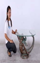 MERMAID TABLE WITH GLASS TOP JR 130096 - Thumbnail 02