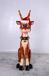 Reindeer Sitting 7ft (JR 140003) - Thumbnail 01