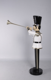 Toy Soldier with Trumpet 6ft - white, gold & black (JR 140007WGB) - Thumbnail 03