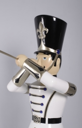 Toy Soldier with Trumpet 6ft - white, gold & black (JR 140007WGB) - Thumbnail 02