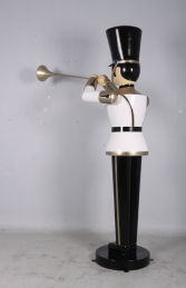 Toy Soldier with Trumpet 9ft - White, Gold & Black (JR 140008WGB) - Thumbnail 02
