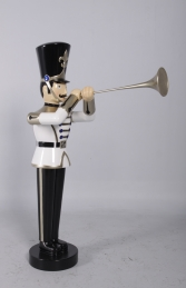 Toy Soldier with Trumpet 4ft- White, Gold & Black (JR140009WGB) - Thumbnail 03
