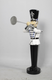 Toy Soldier with Trumpet 4ft- White, Silver & Black (JR140009WSB) - Thumbnail 02