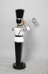 Toy Soldier with Trumpet 4ft- White, Silver & Black (JR140009WSB) - Thumbnail 03