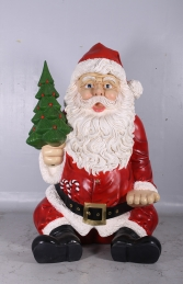 Giant Sitting Santa Claus Statue- 8ft (JR 140080)
