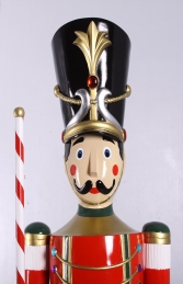 Toy Soldier with Baton 6.5ft - Red & Green (JR 140109G) - Thumbnail 03