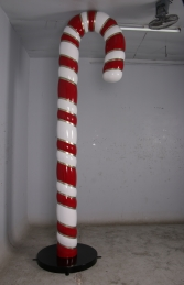 Candy Cane 12ft JR 150010 Red, White & Gold - Thumbnail 01