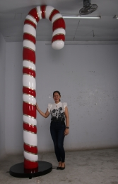 Candy Cane 12ft JR 150010 Red, White & Gold - Thumbnail 02