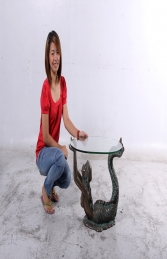 MERMAID TABLE WITH GLASS TOP - SMALL JR 150070 - Thumbnail 02