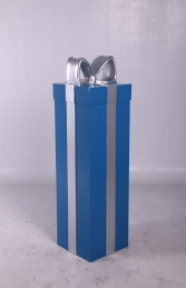 JR 150240 PRESENT BLUE WITH SILVER RIBBON - Thumbnail 01