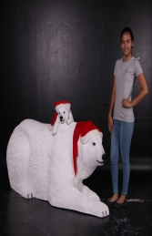 Polar Bear with cub- Xmas Version (JR 160060X) - Thumbnail 01