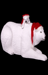 Polar Bear with cub- Xmas Version (JR 160060X) - Thumbnail 02