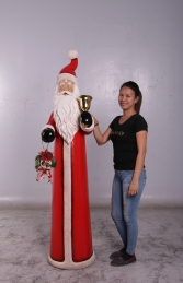 Skinny Santa with Bell and Wreath - 6ft (JR 160156) - Thumbnail 02