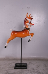 REINDEER FUNNY ON STAND - JR 160252 - Thumbnail 01