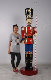 Toy Soldier with Baton 6.5ft - Red & Blue  (JR 170164RB)