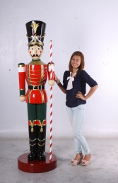 Toy Soldier with Baton 6.5ft - Red & Green (JR 170164G) - Thumbnail 01