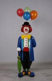Clown with umbrella and balloons JR 180169 - Thumbnail 01