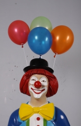 Clown with umbrella and balloons JR 180169 - Thumbnail 02