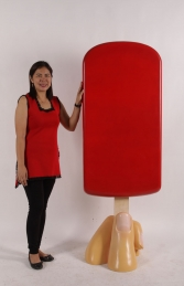 JR 180244 ICE CREAM POPSICLE ON BASE -STRAWBERRY 6FT - Thumbnail 03