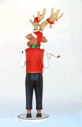 Funny Reindeer Male with Christmas Box 6ft (JR IW) - Thumbnail 03