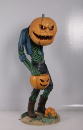 SCARY PUMPKIN MAN WITH CANDY HOLDER - JR 200009 - Thumbnail 01