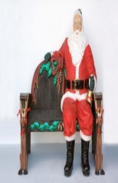 Santa sitting on Bench lifesize (JR 2465A+B) - Thumbnail 03