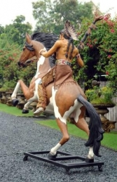 Indian Warrior Chief on Horseback (JR 2570-72)	 - Thumbnail 02
