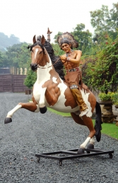 Indian Warrior Chief on Horseback (JR 2570-72)