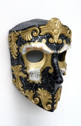 Bauta Baroque Nero E Oro Mask 1.5ft (JR 2708-B)