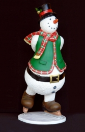 Snowman on Ice Skates 6ft (JR 2736)