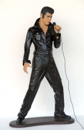 Elvis Style Singer Standing with Microphone 6ft (JR 2766)