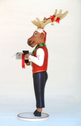 Funny Reindeer Male with Christmas Box 6ft (JR IW) - Thumbnail 02