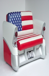 Chevy Car Sofa with American Flag (JR 2024-AF) - Thumbnail 01