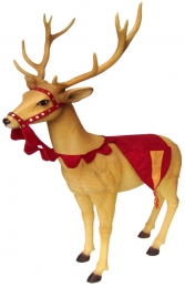 Reindeer head up - dressed (JR IE+08HUD)