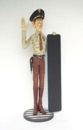 American Policeman Figure with Menu-Board 5.5ft (JR 1849) - Thumbnail 02