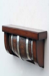 Wood effect Barrel Shelf (JR 5080) - Thumbnail 01