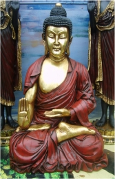 Buddha Sitting Gold 3.5ft (JR AASBG) - Thumbnail 01