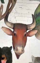 Bull Head- Brown (With Horns) (JR 2198BH) - Thumbnail 02