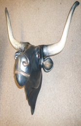 Bull Head (With Long Horns) - Black (JR 2272-B) - Thumbnail 03
