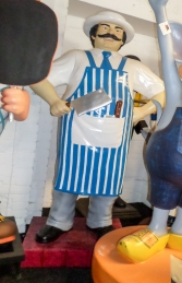 Butcher 6ft - Blue and White (JR 100117) - Thumbnail 03