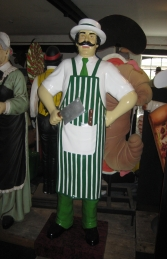 Butcher 6ft- Green and White (JR 100117G)