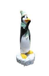 FUNNY PENGUIN THINKING WITH SNOW BASE - JR C-210  - Thumbnail 02