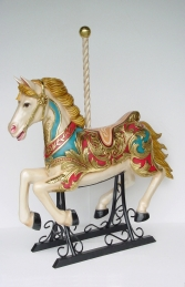 Carousel horse with metal base 4.5 ft - JR 2055 - Thumbnail 02