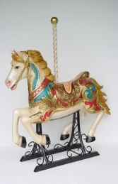 Carousel horse with metal base 4.5 ft - JR 2055 - Thumbnail 01