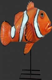 Giant Clown Fish on Metal Stand (JR 100088) - Thumbnail 01