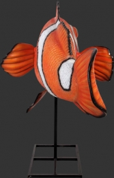 Giant Clown Fish on Metal Stand (JR 100088) - Thumbnail 02