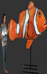 Giant Clown Fish on Metal Stand (JR 100088) - Thumbnail 03